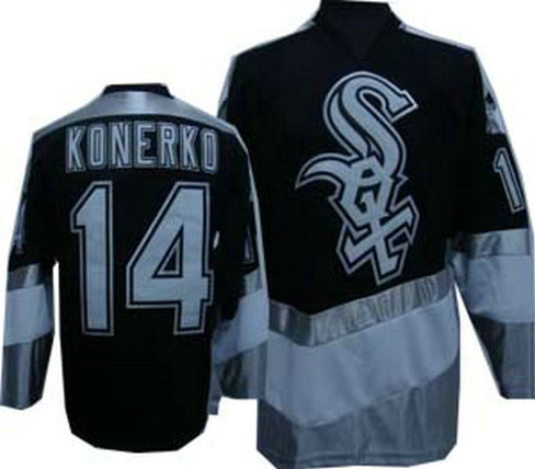 White Sox #14 QUENTIN New Black Jersey