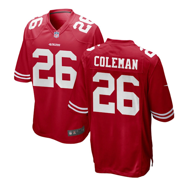49ers #26 Coleman Red Vapor Limited Jersey