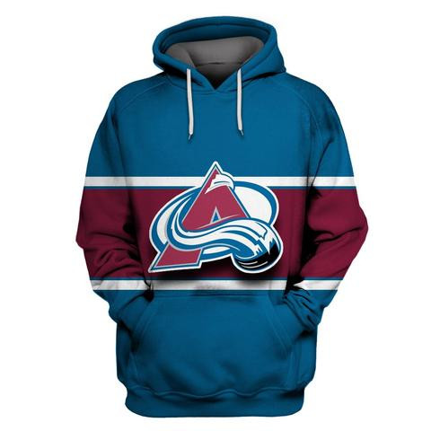 Avalanche Blue All Stitched Hooded Sweatshirt