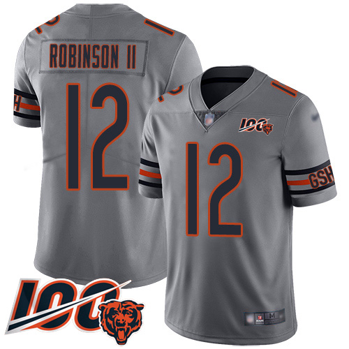 Bears #12 Allen Robinson II Silver Men's Stitched Football Limited Inverted Legend 100th Season Jersey