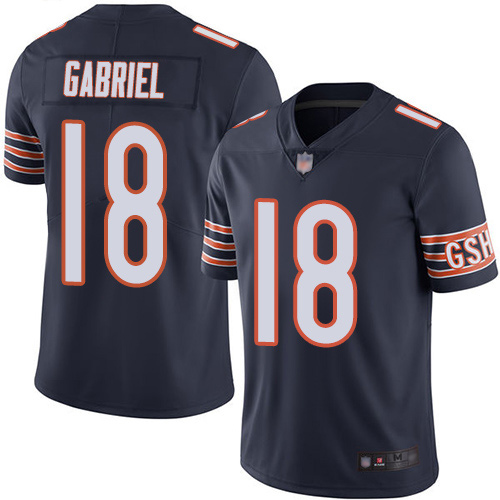 Bears #18 Taylor Gabriel Navy Blue Team Color Youth Stitched Football Vapor Untouchable Limited Jersey