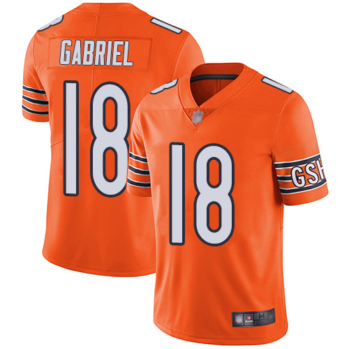 Bears #18 Taylor Gabriel Orange Youth Stitched Football Limited Rush Jersey