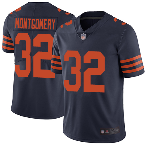 Bears #32 David Montgomery Navy Blue Alternate Youth Stitched Football Vapor Untouchable Limited Jersey