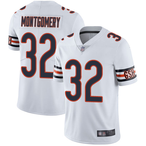 Bears #32 David Montgomery White Youth Stitched Football Vapor Untouchable Limited Jersey