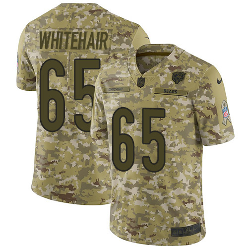 Bears  65 Cody Whitehair Camo Men s Stitched Football Limited 2018 Salute  To Service Jersey 27b22ca3a
