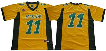 Bison #11 Carson Wentz Gold Limited Stitched NCAA Jersey
