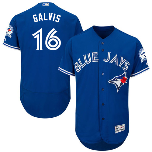 Blue Jays #16 Freddy Galvis Blue Flexbase Authentic Collection Stitched Baseball Jersey