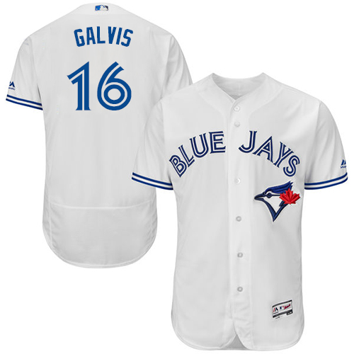 Blue Jays #16 Freddy Galvis White Flexbase Authentic Collection Stitched Baseball Jersey