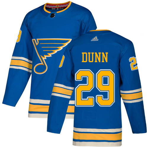 Blues #29 Vince Dunn Blue Alternate Authentic Stitched Hockey Jersey