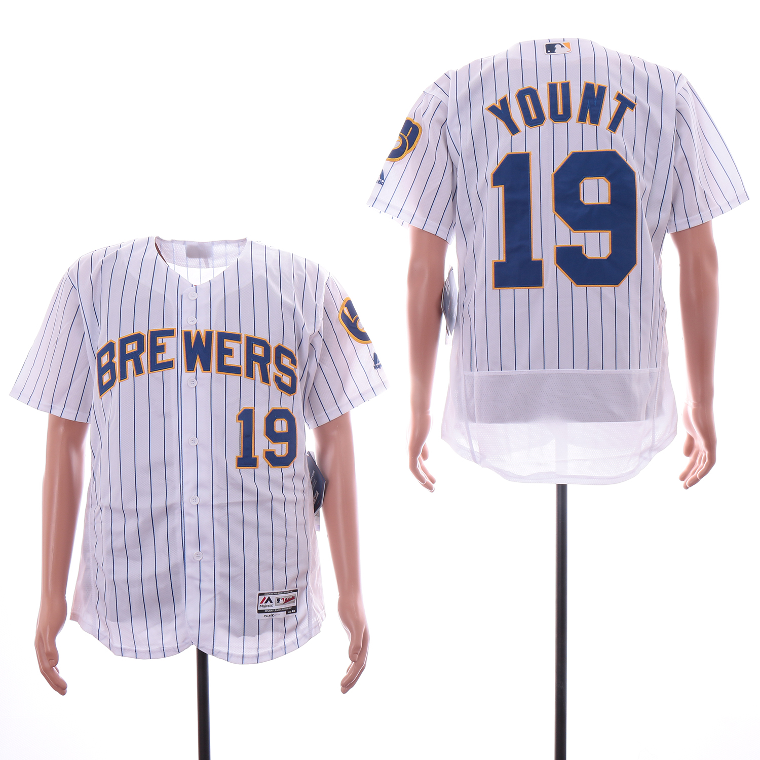 huge selection of 004aa 571bb Brewers 19 Robin Yount White Flexbase