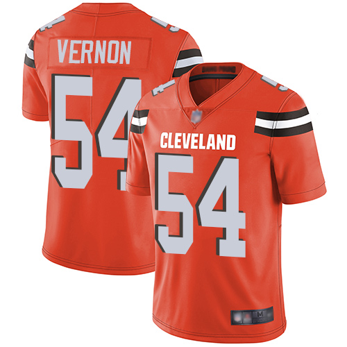 Browns #54 Olivier Vernon Orange Alternate Youth Stitched Football Vapor Untouchable Limited Jersey