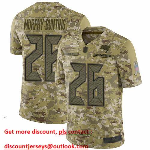Buccaneers #26 Sean Murphy-Bunting Camo Men's Stitched Football Limited 2018 Salute To Service Jersey