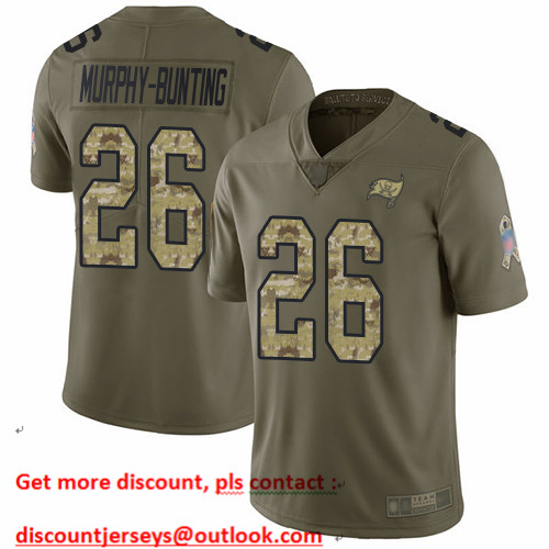 Buccaneers #26 Sean Murphy-Bunting Olive Camo Men's Stitched Football Limited 2017 Salute To Service Jersey
