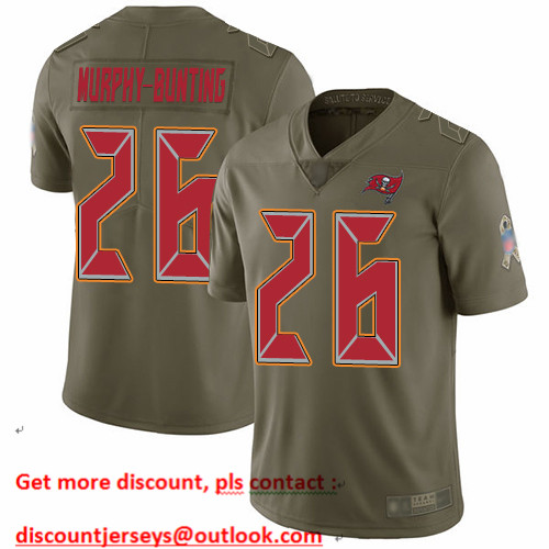 Buccaneers #26 Sean Murphy-Bunting Olive Men's Stitched Football Limited 2017 Salute To Service Jersey