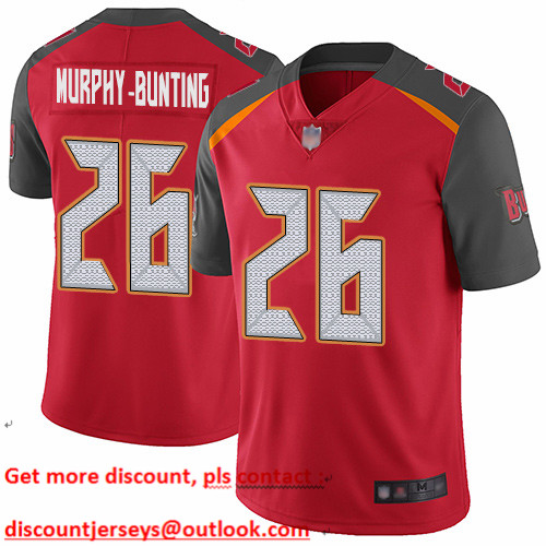 Buccaneers #26 Sean Murphy-Bunting Red Team Color Youth Stitched Football Vapor Untouchable Limited Jersey