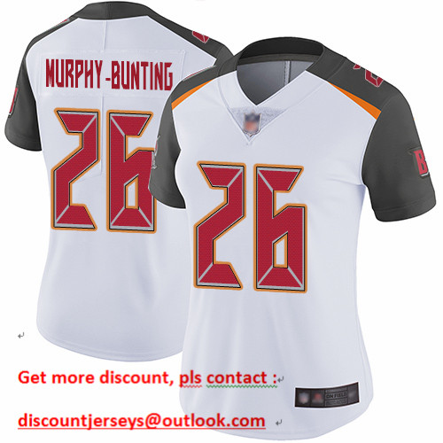 Buccaneers #26 Sean Murphy-Bunting White Women's Stitched Football Vapor Untouchable Limited Jersey