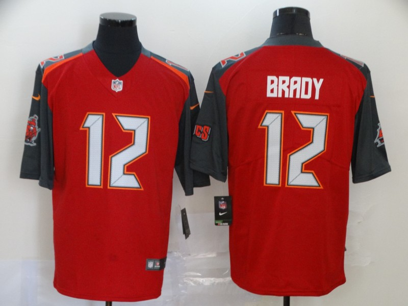 Buccaneers 12 Tom Brady Red Vapor Untouchable Limited Jersey
