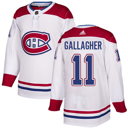 Canadiens #11 Brendan Gallagher White Road Authentic Stitched Hockey Jersey