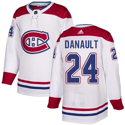 Canadiens #24 Phillip Danault White Road Authentic Stitched Hockey Jersey