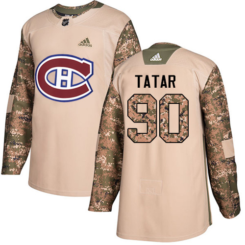 Canadiens #90 Tomas Tatar Camo Authentic 2017 Veterans Day Stitched Hockey Jersey
