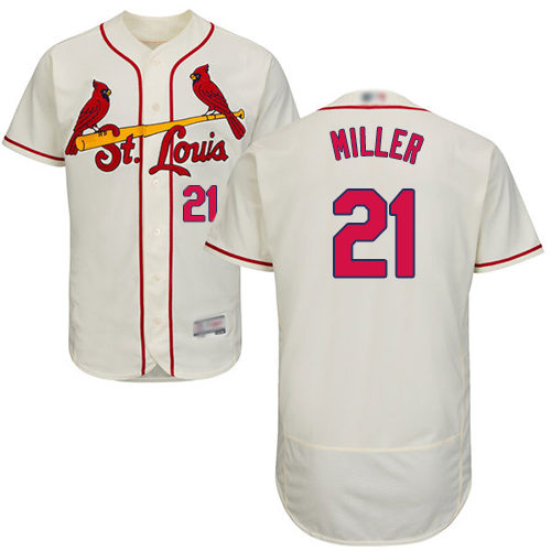 Cardinals #21 Andrew Miller Cream Flexbase Authentic Collection Stitched Baseball Jersey