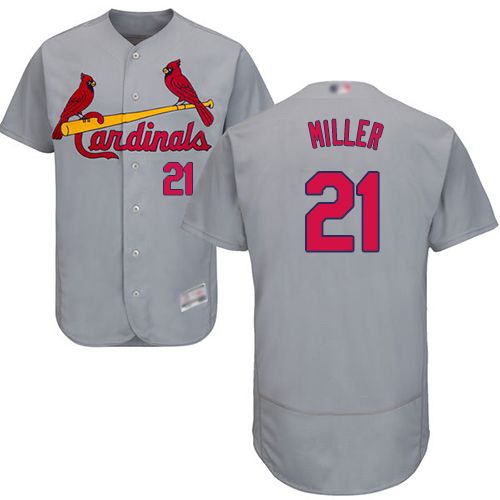 Cardinals #21 Andrew Miller Grey Flexbase Authentic Collection Stitched Baseball Jersey