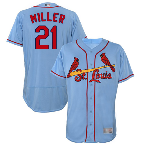 Cardinals #21 Andrew Miller Light Blue Flexbase Authentic Collection Stitched Baseball Jersey