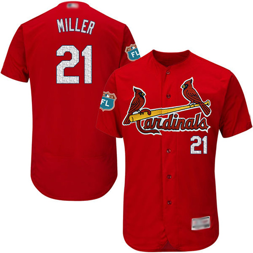Cardinals #21 Andrew Miller Red Flexbase Authentic Collection Stitched Baseball Jersey
