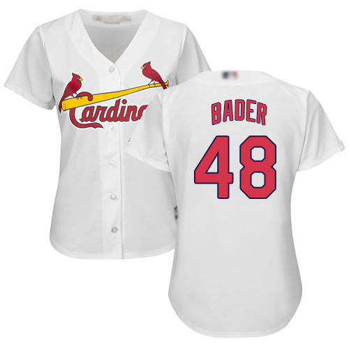 Cardinals #48 Harrison Bader White Home Women's Stitched Baseball Jersey