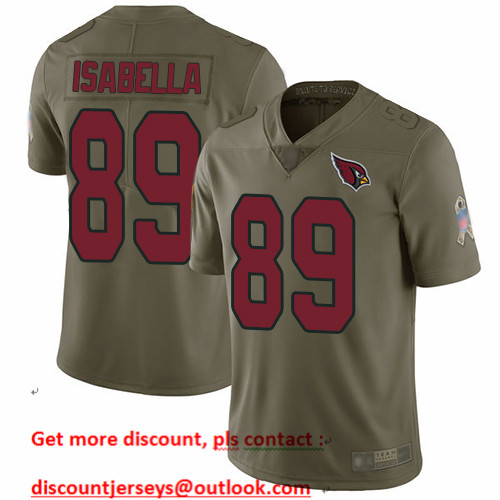 Cardinals #89 Andy Isabella Olive Men's Stitched Football Limited 2017 Salute to Service Jersey