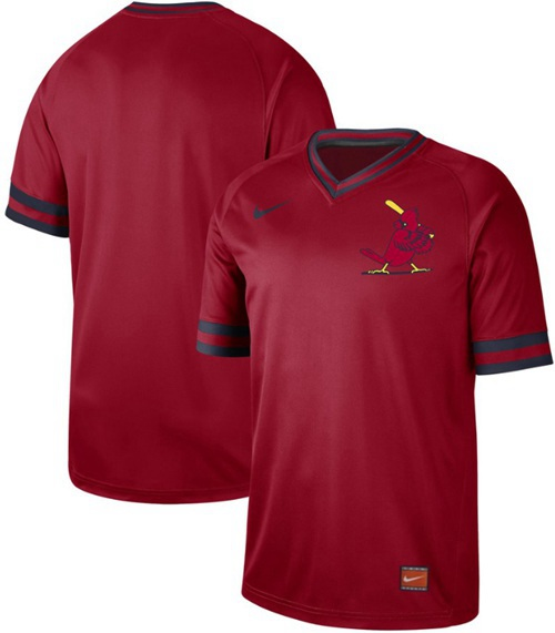 Cardinals Blank Red Authentic Cooperstown Collection Stitched Baseball Jersey
