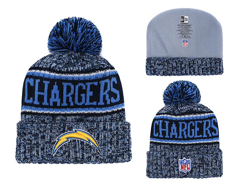 Chargers Team Logo Blue Knit Hat YD