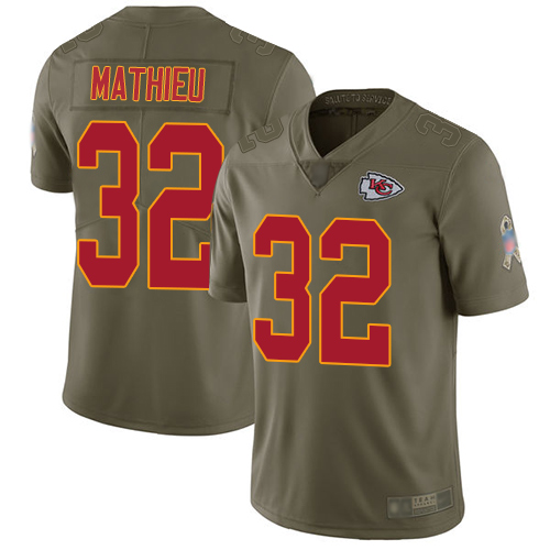 Chiefs #32 Tyrann Mathieu Olive Men's Stitched Football Limited 2017 Salute to Service Jersey