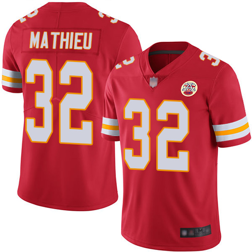 Chiefs #32 Tyrann Mathieu Red Team Color Men's Stitched Football Vapor Untouchable Limited Jersey