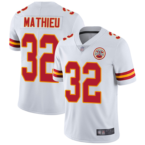 Chiefs #32 Tyrann Mathieu White Youth Stitched Football Vapor Untouchable Limited Jersey