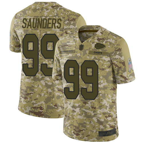 Chiefs #99 Khalen Saunders Camo Men's Stitched Football Limited 2018 Salute To Service Jersey