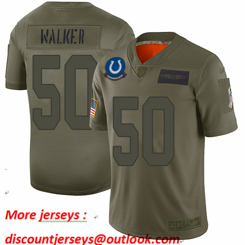 Colts #50 Anthony Walker Camo Men's Stitched Football Limited 2019 Salute To Service Jersey