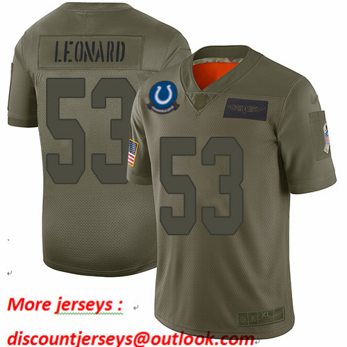 Colts #53 Darius Leonard Camo Men's Stitched Football Limited 2019 Salute To Service Jersey