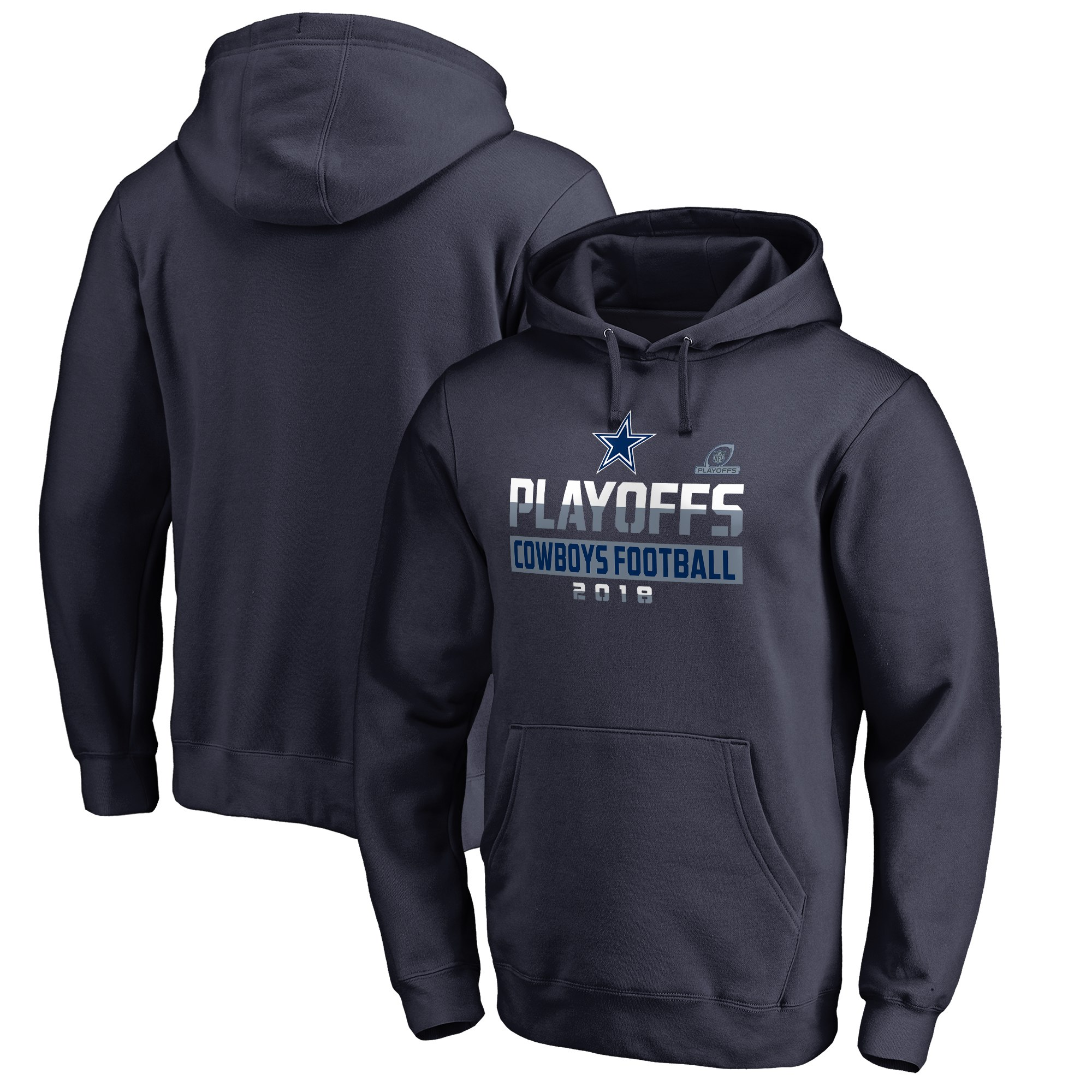 Cowboys Navy 2018 NFL Playoffs Cowboys Football Men's Pullover Hoodie