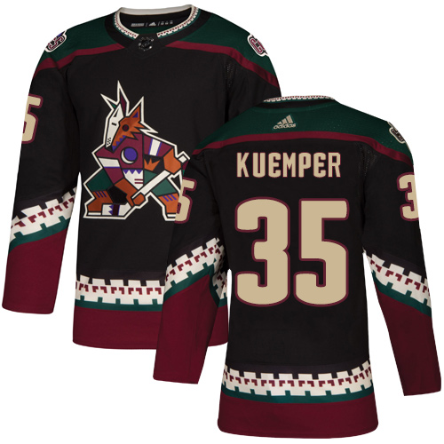 Coyotes #35 Darcy Kuemper Black Alternate Authentic Stitched Hockey Jersey