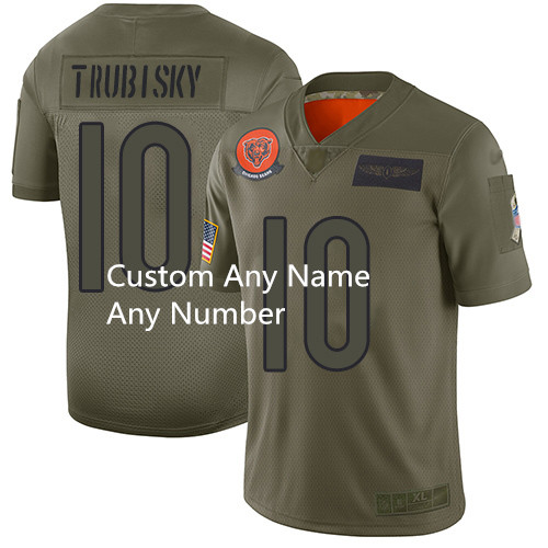 Custom Men's Bears Any name Any number Camo Football Limited 2019 Salute To Service Jersey
