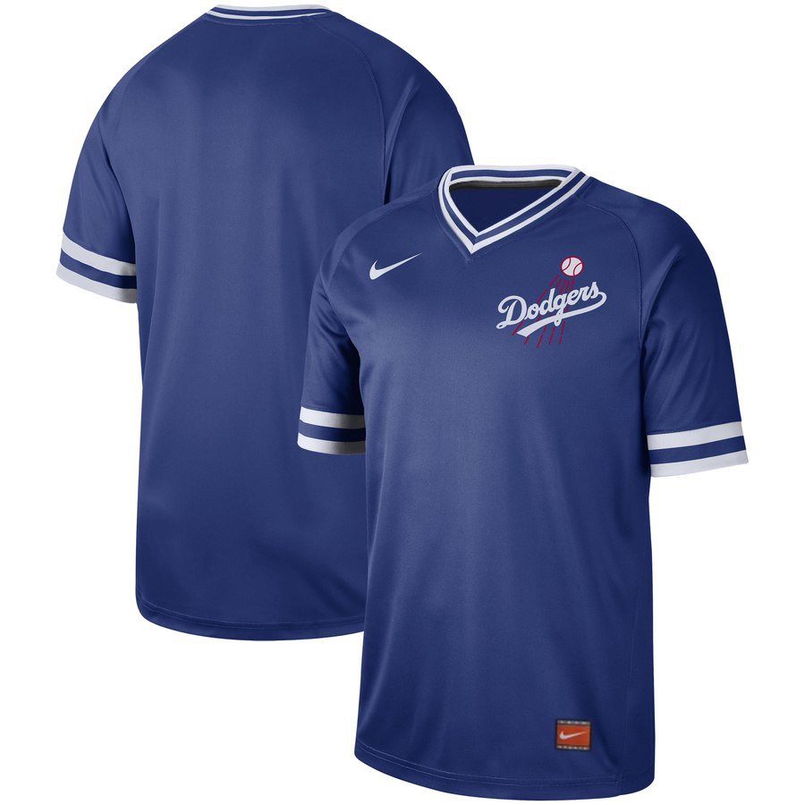 Customized Dodgers Blue Throwback Jersey