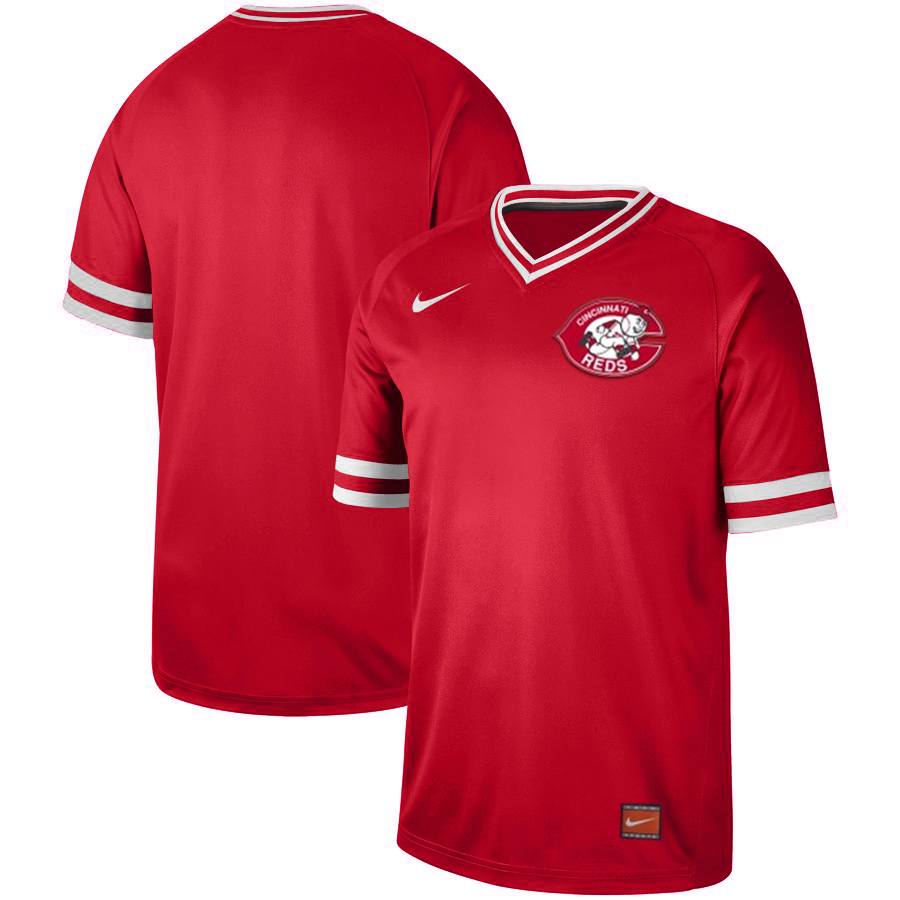 Customized Reds Red Throwback Jersey