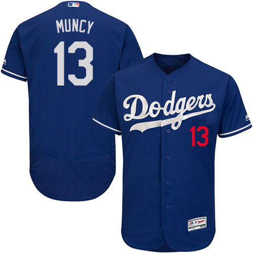 Dodgers #13 Max Muncy Blue Flexbase Authentic Collection Stitched Baseball Jersey