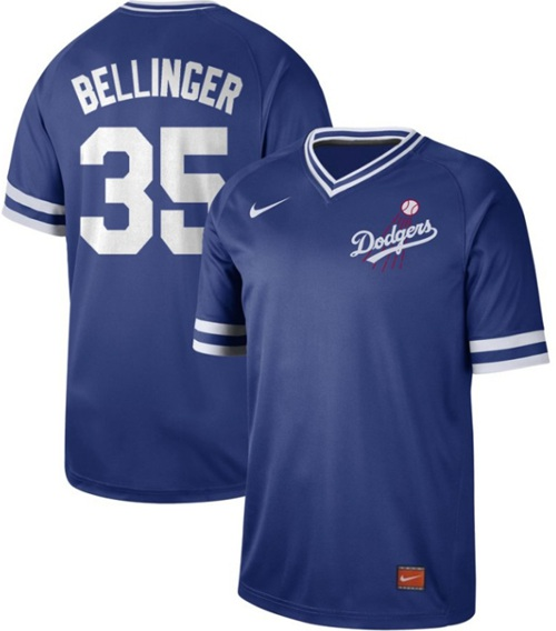 Dodgers #35 Cody Bellinger Royal Authentic Cooperstown Collection Stitched Baseball Jersey