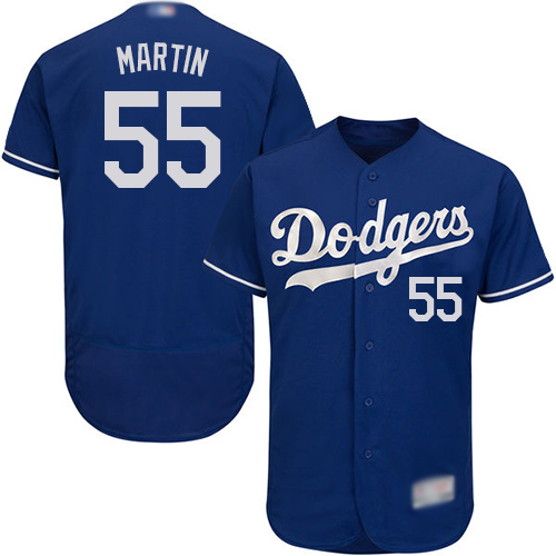 Dodgers #55 Russell Martin Blue Flexbase Authentic Collection Stitched Baseball Jersey
