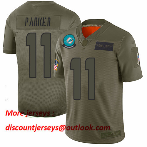 Dolphins #11 DeVante Parker Camo Men's Stitched Football Limited 2019 Salute To Service Jersey