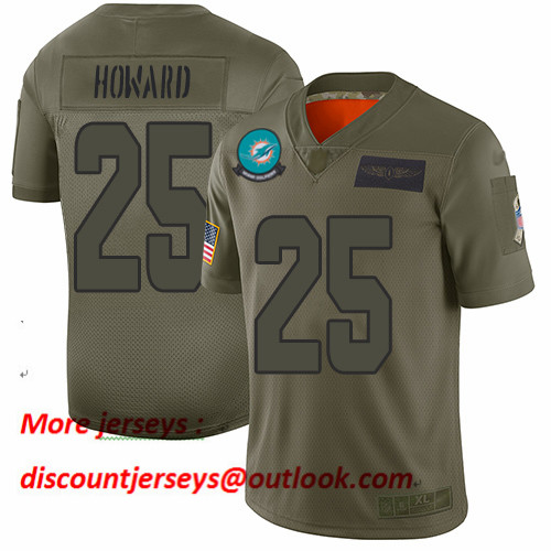 Dolphins #25 Xavien Howard Camo Men's Stitched Football Limited 2019 Salute To Service Jersey