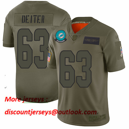 Dolphins #63 Michael Deiter Camo Men's Stitched Football Limited 2019 Salute To Service Jersey