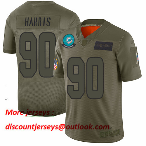 Dolphins #90 Charles Harris Camo Men's Stitched Football Limited 2019 Salute To Service Jersey